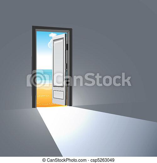 Abre la puerta - csp5263049