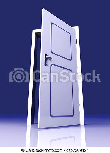 Abre la puerta - csp7369424