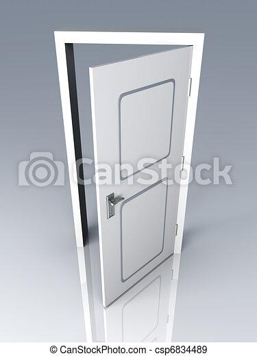 Abre la puerta - csp6834489