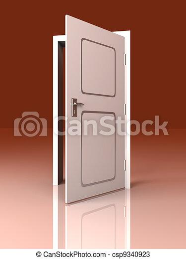 Abre la puerta - csp9340923