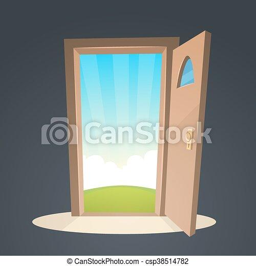 Abre la puerta - csp38514782