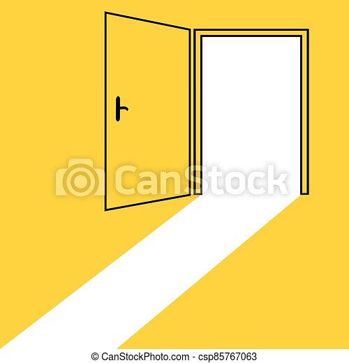 puerta abierta, plano de fondo - csp85767063
