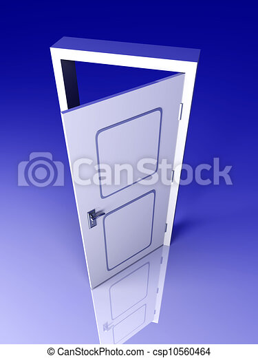Abre la puerta - csp10560464