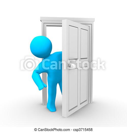 Abre la puerta - csp3715458