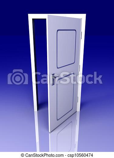 Abre la puerta - csp10560474