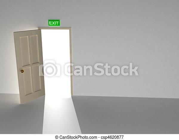 Abre la puerta - csp4620877