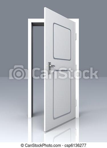 Abre la puerta - csp6136277