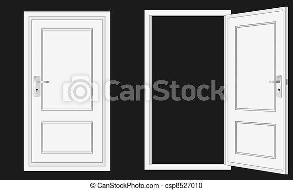 Abre y cierra la puerta - csp8527010