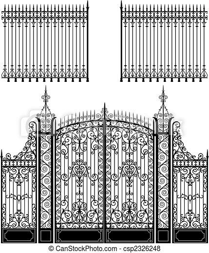 Puerta y valla - csp2326248