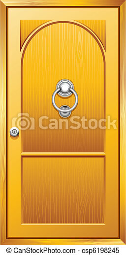 Puerta de madera - csp6198245