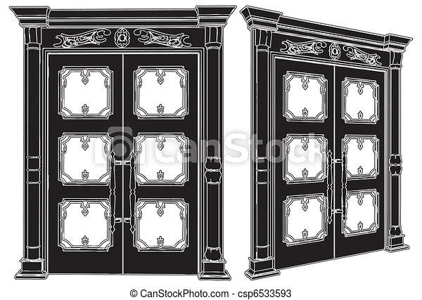 Puerta de madera - csp6533593