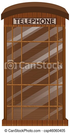 Cabina telefónica con puerta de vidrio - csp46060405