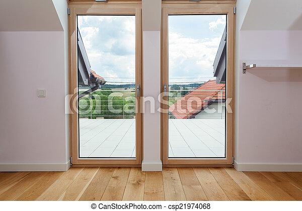 Hermoso puerta doble terraza vista - Puerta terraza ...