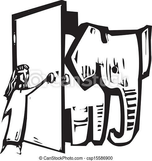 Puerta del elefante - csp15586900