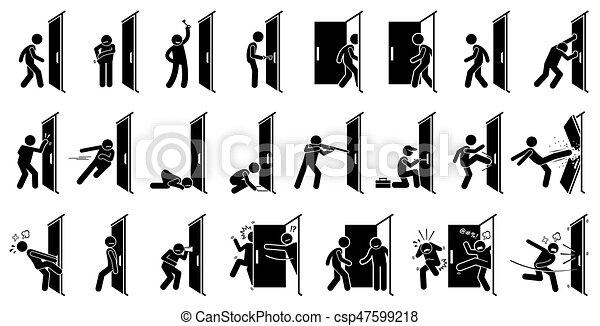 Hombre en la puerta - csp47599218