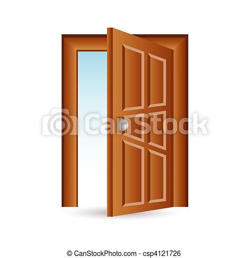 El icono de la puerta - csp4121726
