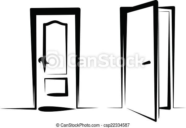 Los iconos de la puerta - csp22334587
