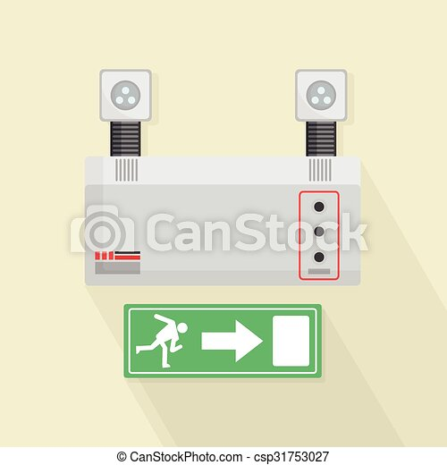 Luces de emergencia y puerta de salida - csp31753027