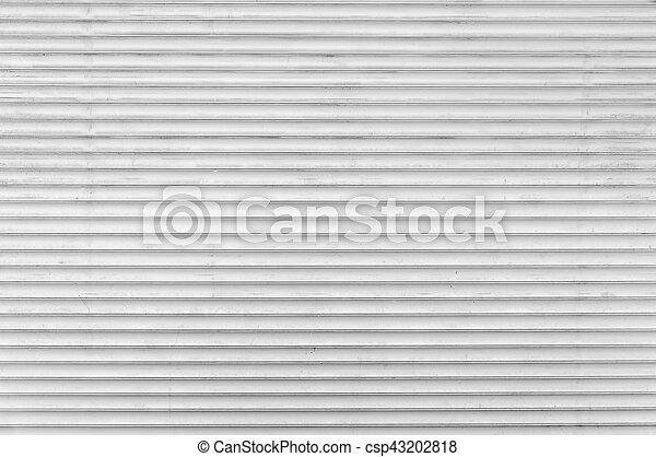Trasfondo de cierre de puertas de ruedas de metal blanco - csp43202818