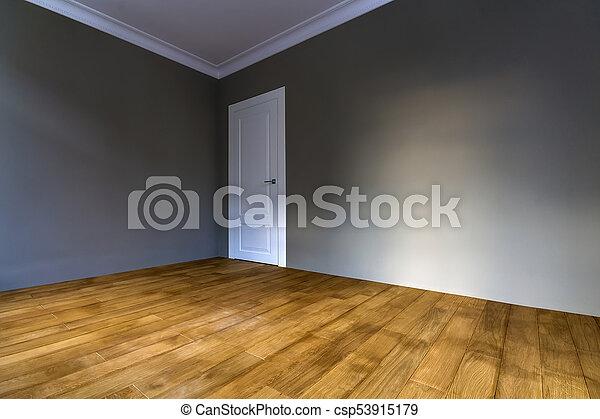 Puerta renovado piso paredes pintadas de madera recientemente parqu interior nuevo - Puertas piso interior ...
