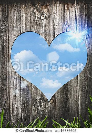 Puerta para amar. Abstrae los antecedentes de San Valentín para tu diseño - csp16736695