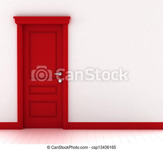 Puerta roja - csp13436165