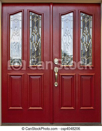 Puerta roja - csp4048206