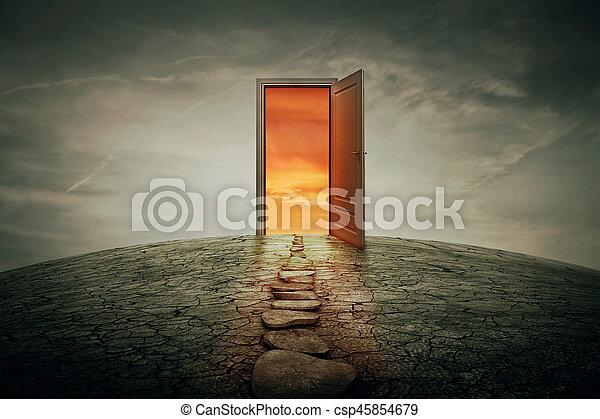Puerta de teletransportación - csp45854679