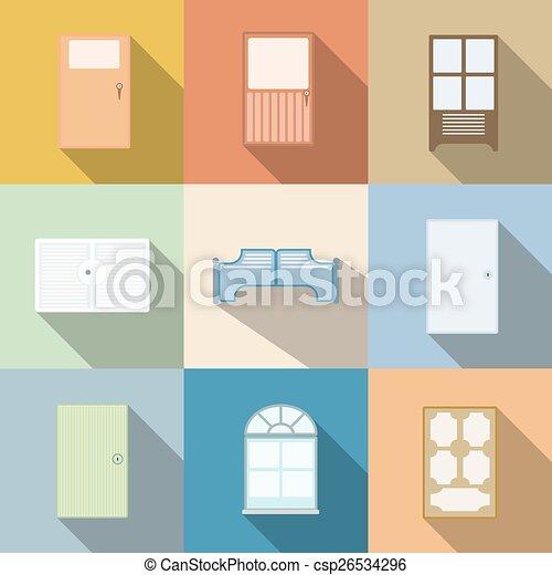 Dibujos de vector de puerta - csp26534296