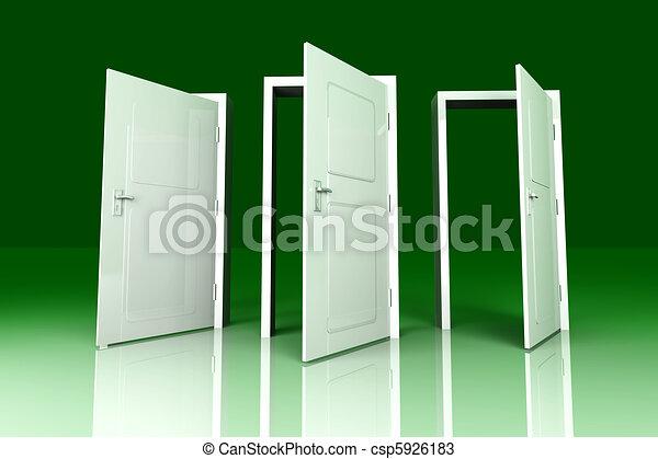 Abran las puertas - csp5926183