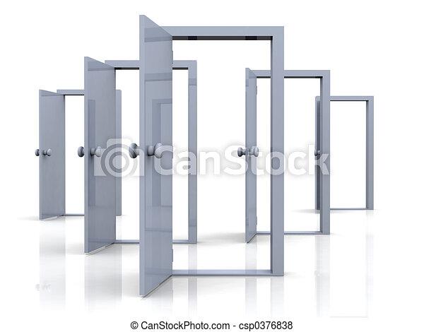 Puertas abiertas - csp0376838