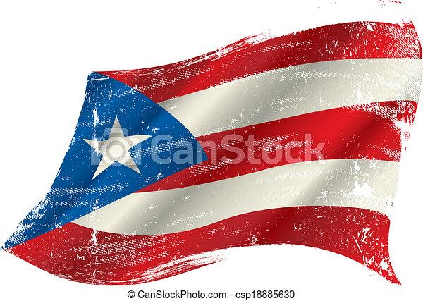 puerto, bandeira, grunge, rico - csp18885630
