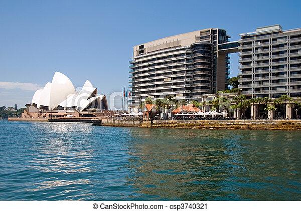 La escena del puerto de Sydney - csp3740321