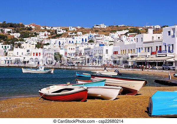 Puerto Mykonos - csp22680214