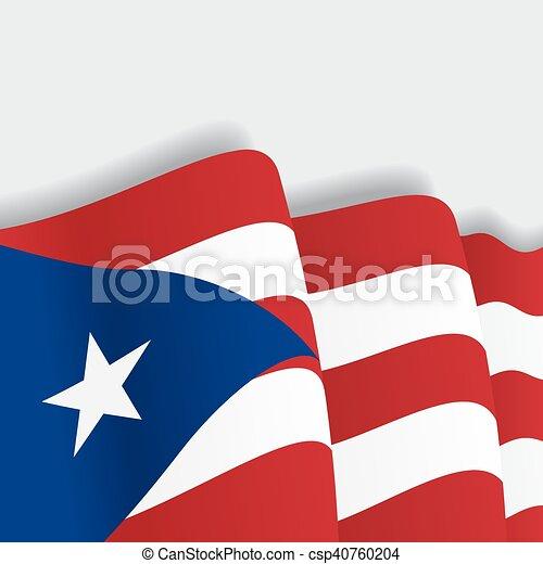 puerto rican waving flag vector illustration puerto rican rh canstockphoto com waving flag vector free download waving flag vector art
