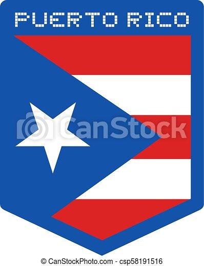 Puerto Rico Flag Emblem
