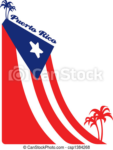 puerto rico flag the flag of puerto rico and palms stock rh canstockphoto com