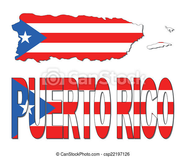 puerto rico map flag and text illustration vector illustration rh canstockphoto com