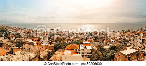 Puerto Vallarta Mexico Panorama - csp59206630