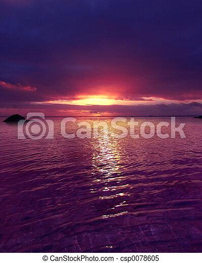 Ocaso púrpura - csp0078605