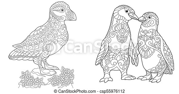 Kids-n-fun.co.uk | 10 Coloring pages of Puffins | 241x450