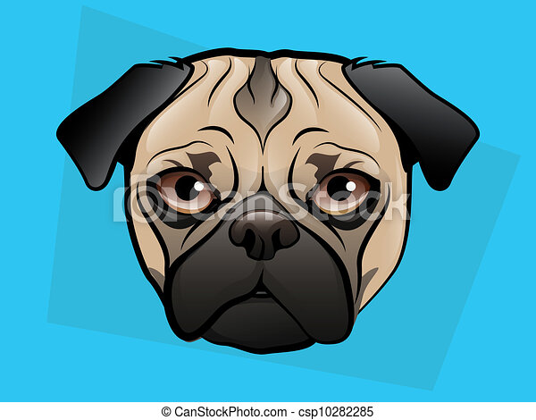 Pug Illustration - csp10282285