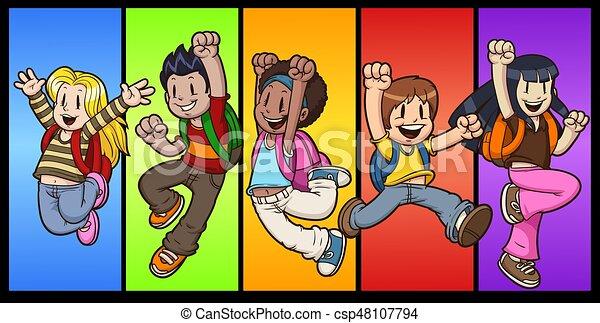 pular, crianças - csp48107794