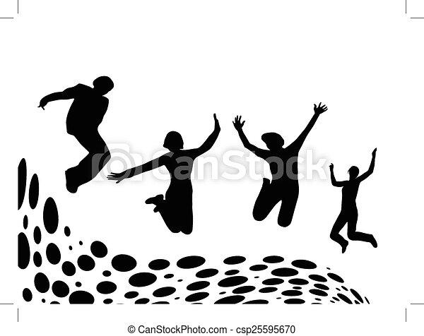 pular, pessoas - csp25595670
