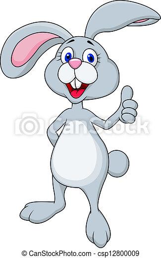 Dibujos de conejo con pulgar arriba - csp12800009