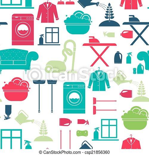 pulizia casa, seamless - csp21856360