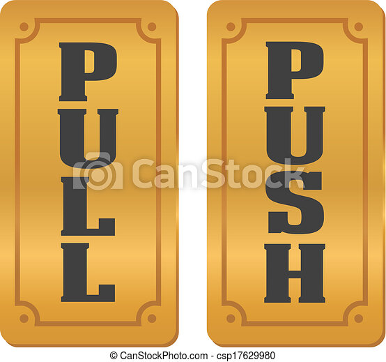 pull and push door signs - csp17629980  sc 1 st  Can Stock Photo & Pull and push door signs. Suitable for door signs vector - Search ...