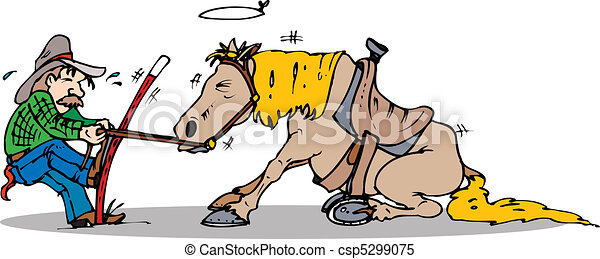 pull start horse - csp5299075