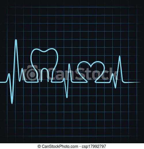 pulsation, coeur, faire, dents - csp17992797