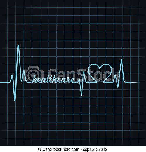 pulsation, faire, healthcare, texte - csp16137812